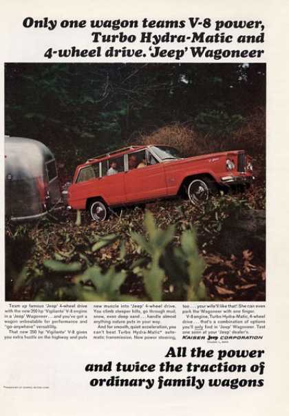 Kaiser Jeep Pulling Airstream Trailer (1965)