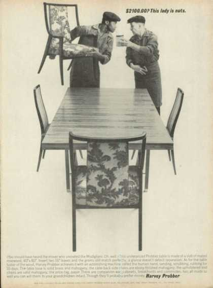 Harvey Probber Furniture Table Chairs (1961)