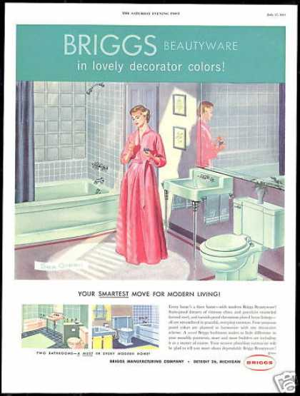 Briggs Bathroom Fixtures Modern Living Vintage (1954)