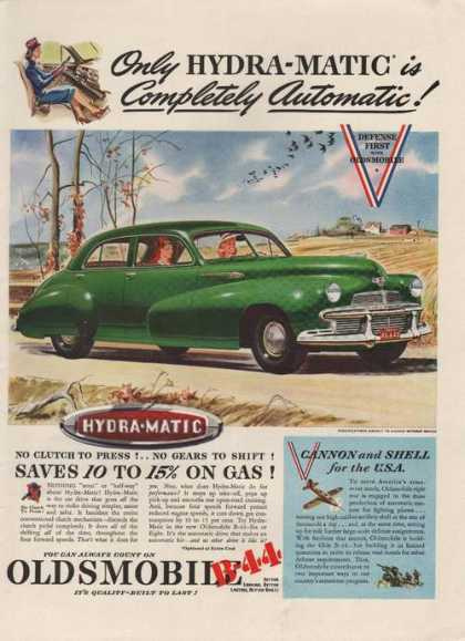 Green Oldsmobile B44 Car (1942)