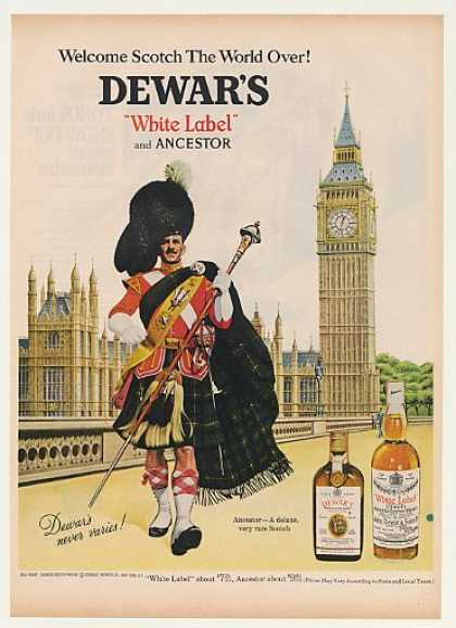 Dewar's Scotch Whisky Big Ben (1968)