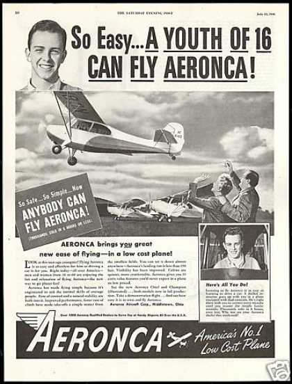 Aeronca Aircraft Corp Airplane Anybody Can fly (1946)