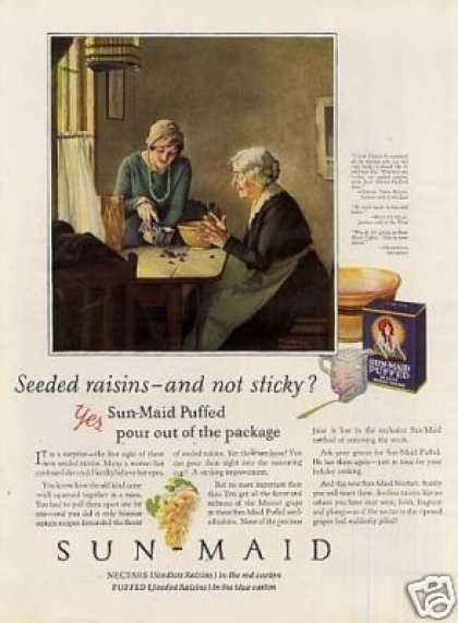 Sun-maid Raisins Color Ad Norman Rockwell Art (1926)