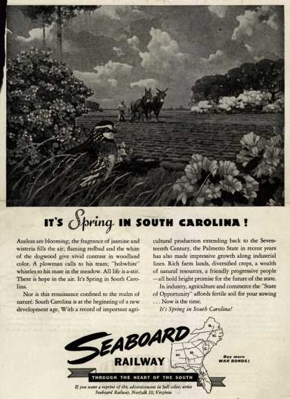 Seaboard Railway's South Carolina – It's Spring In South Carolina (1945)