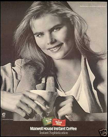 Mariel Hemingway Photo Maxwell House Coffee (1986)