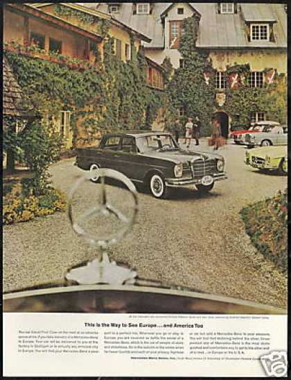 Mercedes Benz 4 Car Photo Europe USA Vintage (1962)