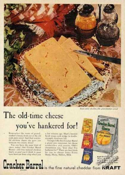 Cracker Barrel Old-time Cheddar Cheese (1956)