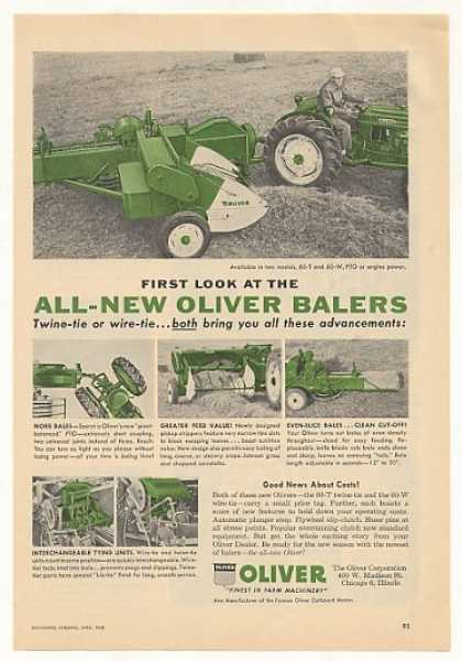 Oliver 60-T 60-W Balers (1958)