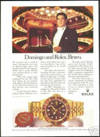 Placido Domingo Rolex GMT Master Watch Photo (1988)