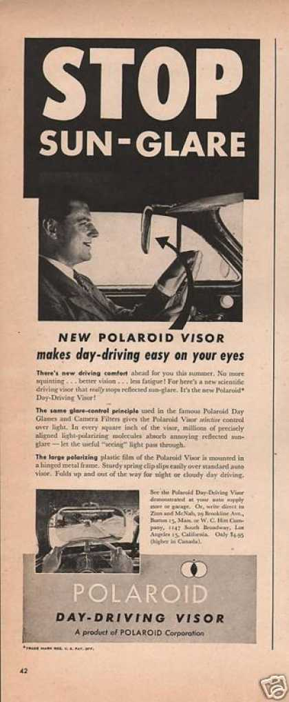 Polaroid Day Driving Visor (1946)