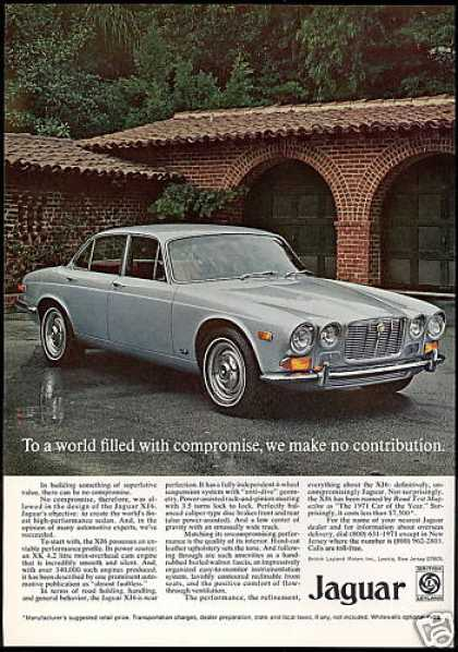 Jaguar XJ6 XJ-6 Car Photo No Compromise (1971)