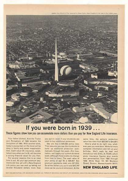 New England Life Ins Born 1939 NY World's Fair (1964)