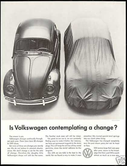VW Volkswagen Bug Changes Photo Vintage (1960)