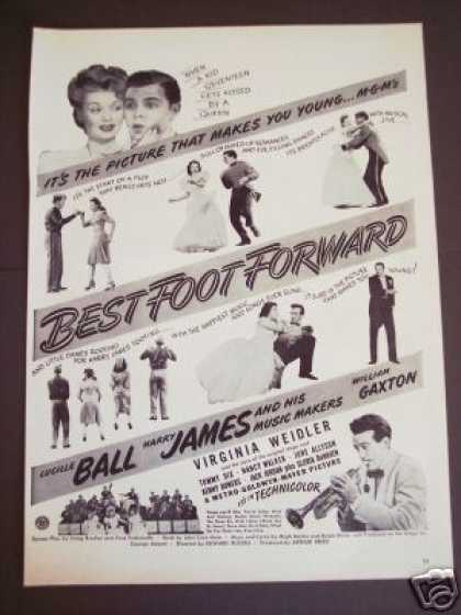 Lucille Ball Movie Best Foot Forward Promo (1943)