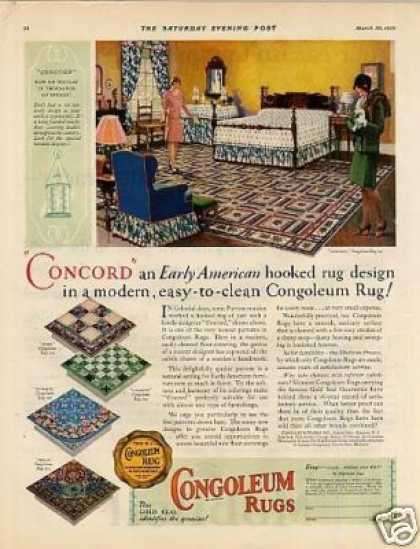 Congoleum Rugs Color (1929)