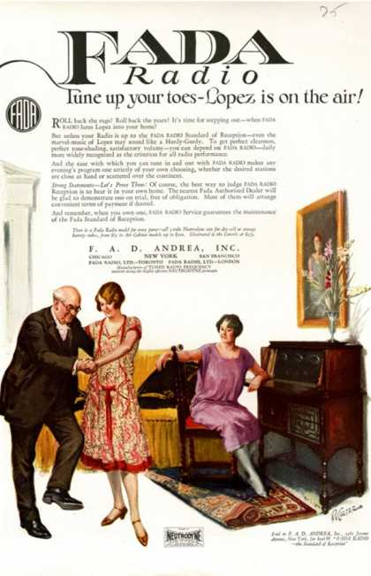 Fada Radio, USA (1920)