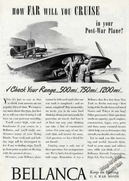 "Bellanca ""How Far Will You Cruise"" Wwii (1944)"