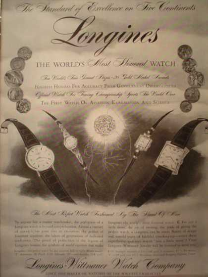 Longine Worlds most honored watch (1957)