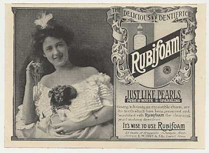 Rubifoam Dentifrice Tooth Powder Lady Pearls (1905)