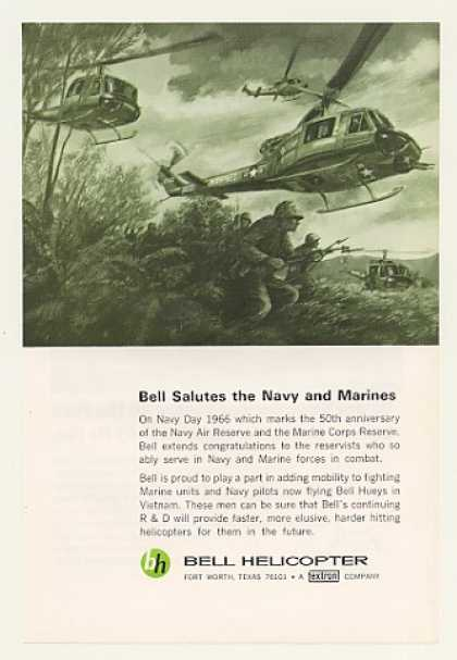 US Marines Bell Huey Helicopter Vietnam (1966)
