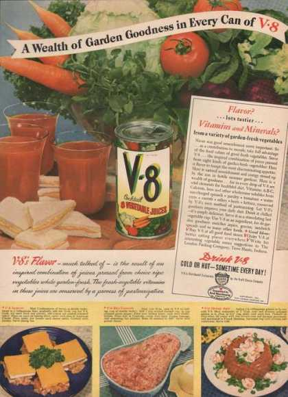 Wealth of Garden Goodness In Every Can V8 (1942)
