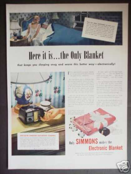 Simmons Electronic Electric Blanket (1947)