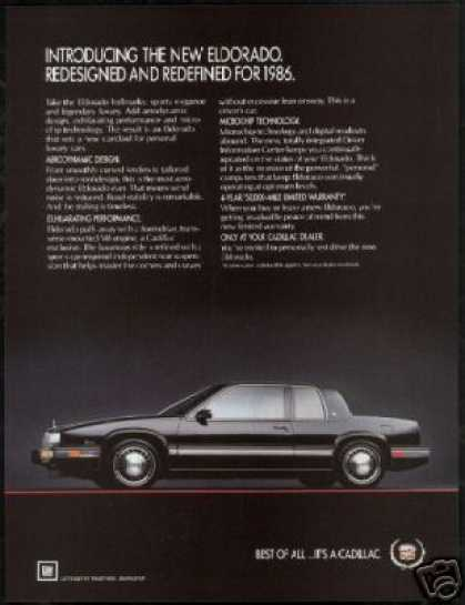 Black Cadillac Eldorado Vintage Photo (1986)