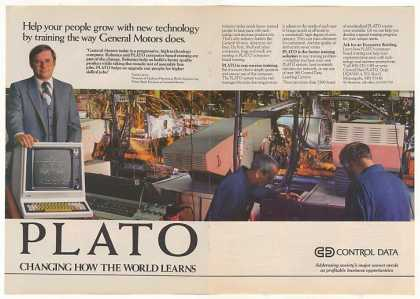 GM Control Data PLATO Computer Training Dbl-Pg (1982)