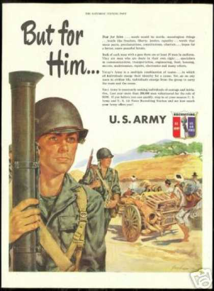 US Army Soldier Bazooka Future Peace Recruiting (1951)