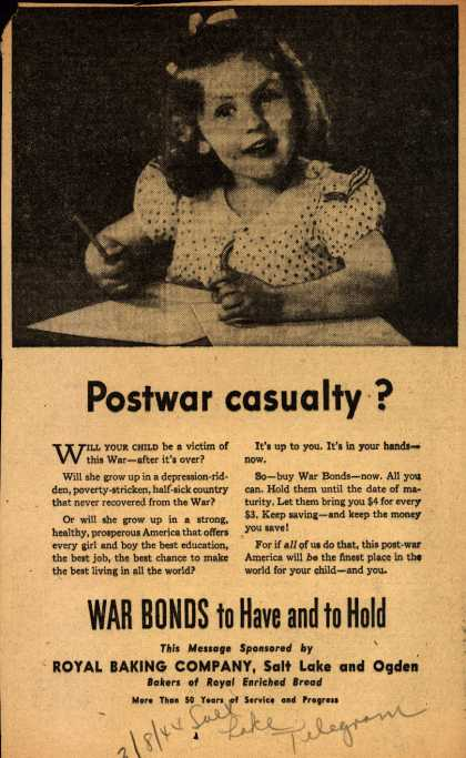 Royal Baking Company's War Bonds – Postwar Casualty? (1944)