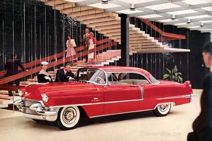 Cadillac Series 62 Coupe de Ville in the Styling Administration Building (1956)
