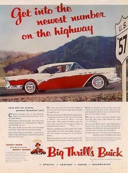 "Buick Century Car Ad ""Get Into The... (1957)"