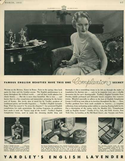 Yardley & Co., Ltd.'s Various – Famous English Beauties Have This One Complexion Secret (1932)