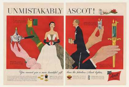 '52 Ascot Vogue Heritage Standard Dagger Lighters 2P (1952)