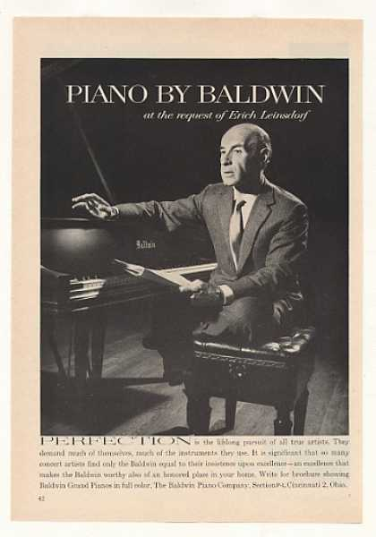 Erich Leinsdorf Baldwin Piano Photo (1963)