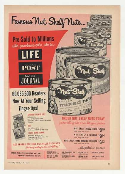Nut Shelf Nuts Cans (1957)