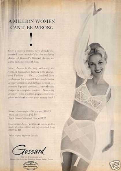 "Gossard Girdle Ad ""A Million Women... (1960)"