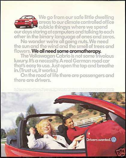 VW Volkswagen Red Cabrio Convertible Photo (1997)