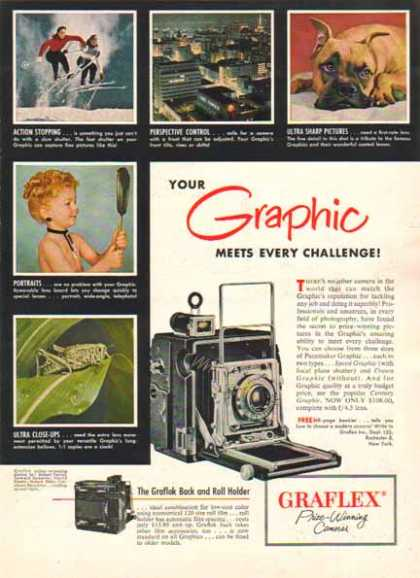 Graflex Speed Graphic Camera -Sold (1952)