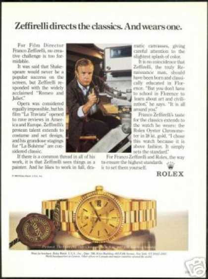 Franco Zeffirelli Photo Vintage Rolex Watch (1985)