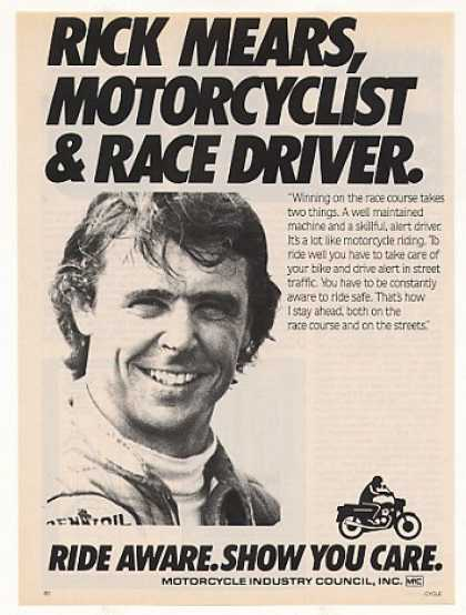 Rick Mears Motorcycle Industry Council (1987)