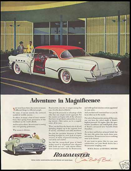 Buick 2 Dr Red & White Roadmaster Vintage Car (1956)
