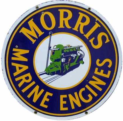 Morris Marine Engines Enamel Sign