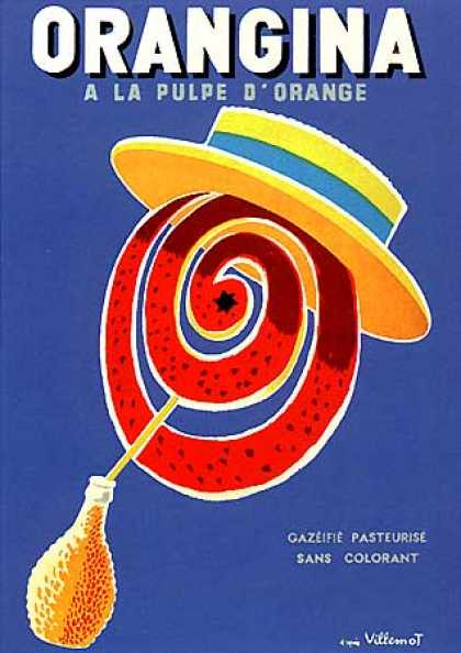 Orangina by Bernard Villemot (1955)