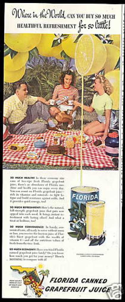 Florida Canned Grapefruit Juice Photo (1949)