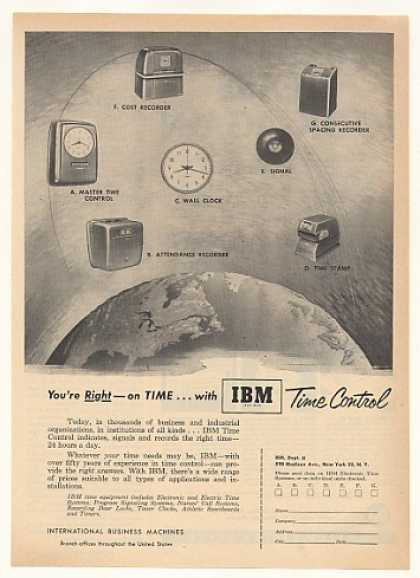 IBM Time Control Recorders Clock (1952)
