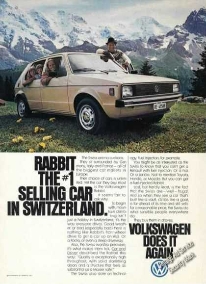 Vw Volkswagen Rabbit #1 In Switzerland Promo (1978)