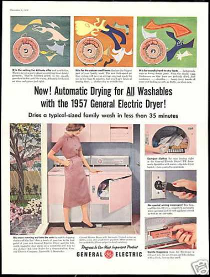 GE General Electric Pink Washer Dryer (1956)
