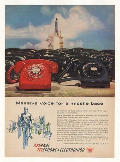 General Telephone Vandenberg AFB Atlas Missile (1961)