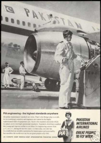 PIA Pakistan International Airlines Art (1966)